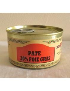 PATE 20% FOIE GRAS DE CANARD