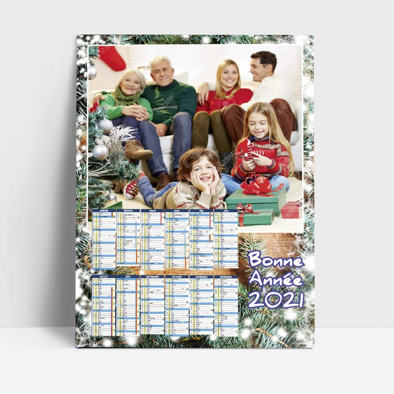 25 calendriers de Noël personnalisés