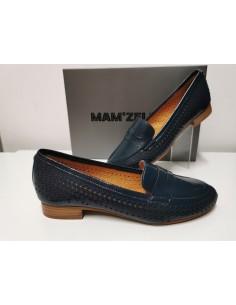 Mocassin MAMZELLE Zip bleu