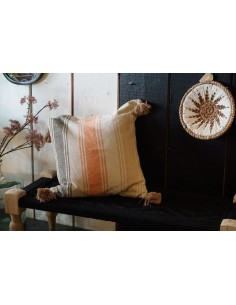 COUSSIN RAYURES ROSES