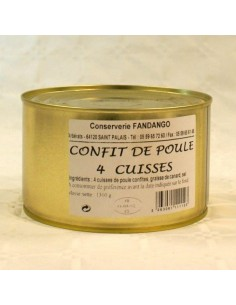 CONFIT DE POULE 4 CUISSES